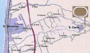 Cartina del velodromo